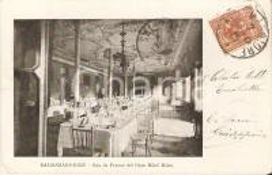 1901 SALSOMAGGIORE TERME (PR) Sala da pranzo Gran Hotel MILAN *Cartolina FP VG