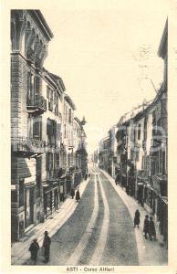 1930 ASTI Passeggiata in Corso Alfieri *Cartolina FP VG