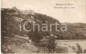 1910 GENZANO DI ROMA Panorama con Lago di NEMI *Cartolina FP VG