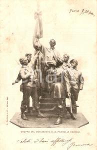 1901 PAVIA Gruppo del monumento alla Famiglia CAIROLI *Cartolina FP VG