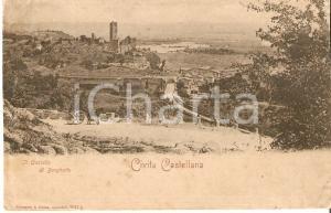 1905 ca CIVITA CASTELLANA (VT) Castello di BORGHETTO Panorama *Cartolina FP NV