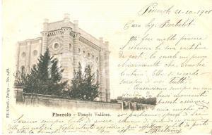 1901 PINEROLO (TO) Panorama del Tempio Valdese *Cartolina FP VG