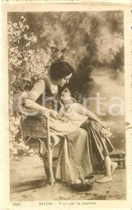 1919 BAMBINI Fiori per la mamma *Cartolina FP VG