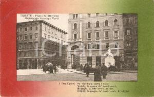 1920 TRIESTE Monumento a Giuseppe VERDI in Piazza San Giovanni *Cartolina FP VG