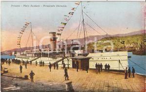 1928 TRIESTE Piroscafo Venezia al MOLO AUDACE *Cartolina FP VG