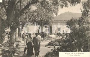 1916 BAGNI DI MONTECATINI Passanti e calessino in Viale Tettuccio *Cartolina FP