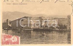 1913 TRIESTE Battello davanti al Palazzo della Luogotenenza *Cartolina FP VG