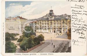 1900 TRIESTE Tavolini in Piazza Grande *Cartolina FP VG