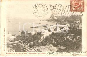 1902 BACOLI (NA) Frazione BAIA Panorama e Castello Aragonese *Cartolina FP VG