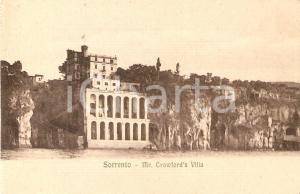 1905 ca SORRENTO (NA) Panorama di Villa CRAWFORD *Cartolina FP VG