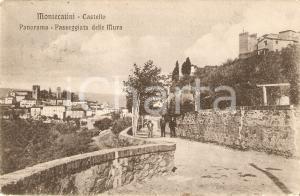 1907 MONTECATINI TERME (PT) Uomini sulla Passeggiata delle Mura *Cartolina FP VG
