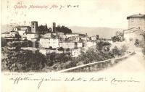 1902 MONTECATINI ALTO (PT) Panorama con castello *Cartolina FP VG