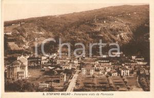 1930 SANTO STEFANO BELBO (CN) Panorama visto da MONCUCCO *Cartolina FP VG