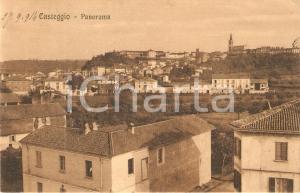 1914 CASTEGGIO (PV) Panorama del paese *Cartolina FP VG