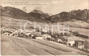 1925 CARANO (TN) Panorama con DAJANO e VARENA *Cartolina FP VG