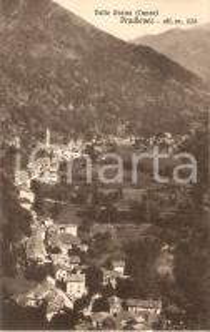 1930 PRADLEVES (CN) Panorama del paese VALLE GRANA *Cartolina FP VG