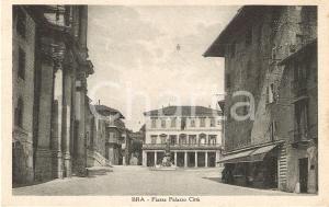 1931 BRA (CN) Piazza Palazzo Città *Cartolina FP VG