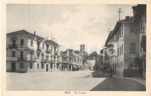 1931 BRA (CN) Bicicletta in Via Cavour *Cartolina FP VG