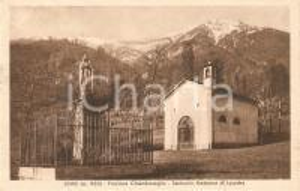 1944 LEMIE Frazione CHIANDUSSEGLIO Santuario Madonna di LOURDES *Cartolina FP VG