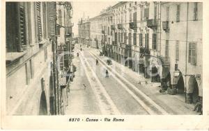 1924 CUNEO Fermata del tram in Via Roma *Cartolina FP VG