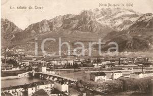 1912 LECCO Panorama della città con MONTE RESEGONE *Cartolina FP VG