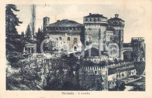 1931 VERZUOLO (CN) Veduta del castello *Cartolina FP VG