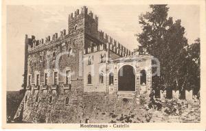 1935 MONTEMAGNO (AT) Veduta del castello *Cartolina FP VG
