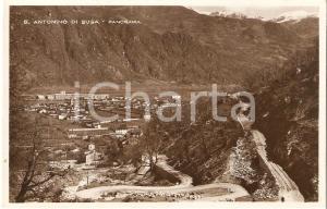 1931 SANT'ANTONINO DI SUSA (TO) Panorama del paese *Cartolina FP VG