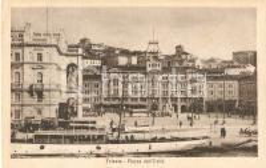 1924 TRIESTE Battello davanti a Piazza dell'Unità *Cartolina FP VG
