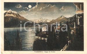 1927 VARENNA (LC) Panorama notturno del Lago di COMO *Cartolina FP VG