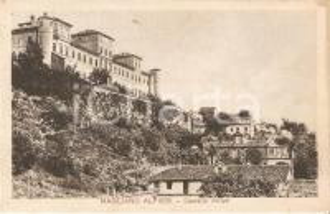1930 MAGLIANO ALFIERI (CN) Veduta di Castello Alfieri *Cartolina FP VG