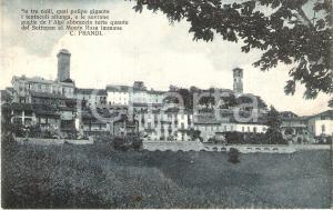 1931 MURAZZANO (CN) Panorama e versi di Carlo PRANDI *Cartolina FP VG