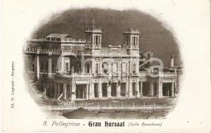 1907 SAN PELLEGRINO TERME (BG) Panorama con GRAN KURSAAL *Cartolina FP VG