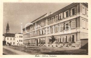 1951 MEDE (PV) Bambini davanti all'edificio scolastico *Cartolina FP VG