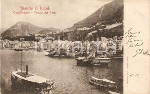 1905 ca CASTELLAMMARE DI STABIA (NA) Veduta del porto *Cartolina FP VG