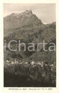 1930 ALA DI STURA (TO) Panorama con UIA DI MONDRONE *Cartolina FP VG
