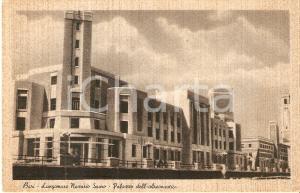 1935 ca BARI Lungomare Nazario SAURO Palazzo dell'AERONAUTICA *Cartolina FP NV