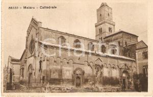 1930 ca MATERA Cattedrale MADONNA DELL BRUNA e Sant'Eustachio *Cartolina FP NV