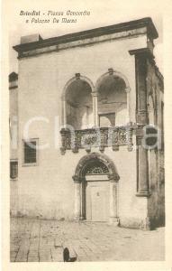 1920 ca BRINDISI Palazza DE MARZO in Piazza Concordia *Cartolina FP NV