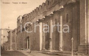1925 ca SIRACUSA Tempio di ATHENA Panorama *Cartolina FP NV