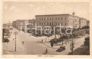 1935 BARI Biciclette e automobili in Piazza Cavour *Cartolina FP VG
