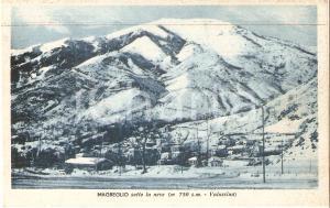 1939 MAGREGLIO (CO)  Il paese sotto la neve - VALSASSINA *Cartolina FP NV