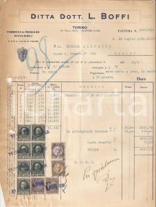 1935 TORINO Ditta Dott. L. BOFFI Fabbrica di persiane avvolgibili *Fattura 22x27