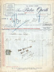 1935 TORINO Ditta Zaverio OPERTI Caolino Terre refrattarie *Fattura 22x27