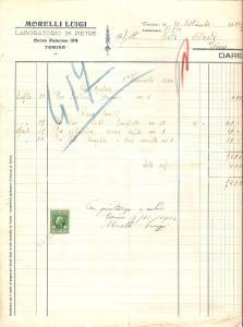 1934 TORINO Luigi MORELLI Laboratorio in pietre *Fattura 22x27
