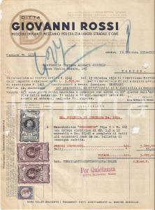 1934 GENOVA Ditta Giovanni ROSSI Impianti meccanici per edilizia *Fattura 22x27