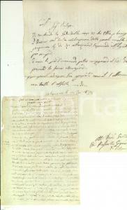 1840 ca CONVERSANO Mons. Antonio DALENA - Quid est homo *Sermone manoscritto