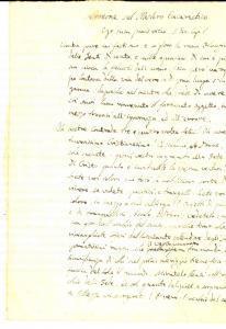 1830 ca Mons. Antonio DALENA - Sermone Mistero Eucaristico INCOMPLETO