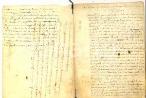 1840 ca CONVERSANO Mons. Antonio DALENA - Sermone sul Giudizio 12 pp.
