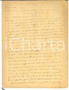 1840 ca Miracoli di Gesù Cristo - Indice manoscritto di opera religiosa *INEDITO